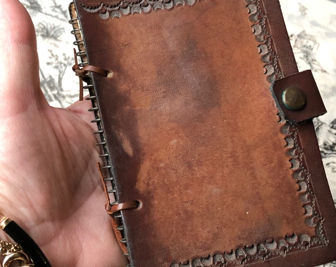Vintage Leather Notebook Small Journal