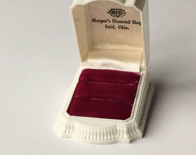 Ring Box Wedding Engagement Vintage Double Ringbox Jewelry Presentation