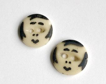 Girl Face Novelty Buttons