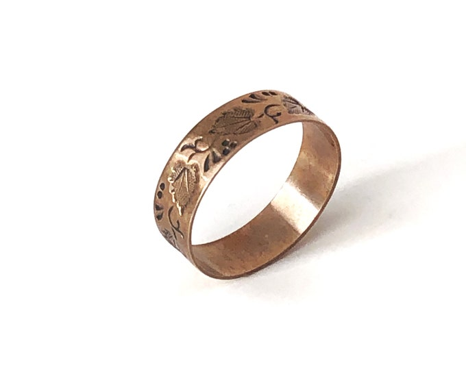 8K Gold Baby Ring Rose Gold Vintage Jewelry Size 4