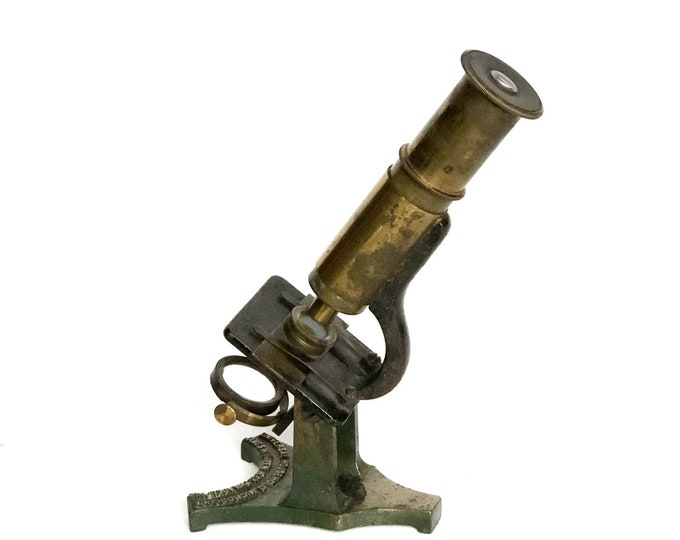 Microscope Antique Brass Scientific Instrument Queen's Universal Household