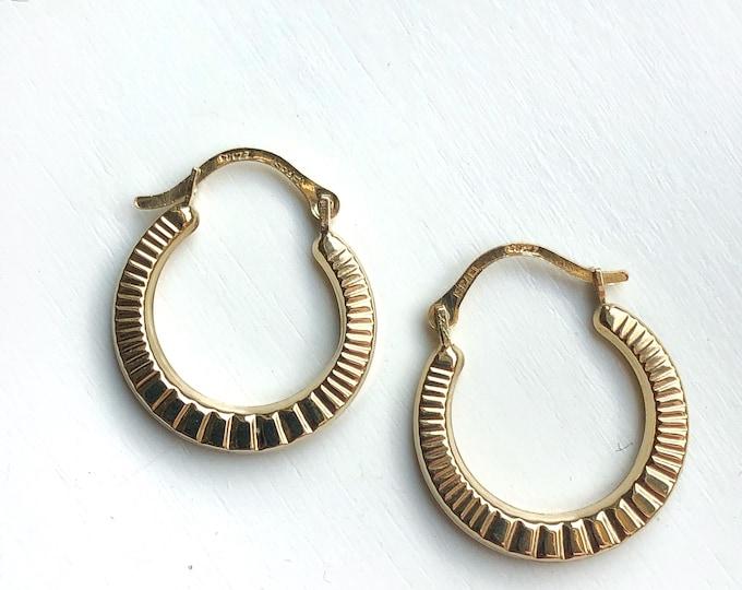14K Gold Earrings Gorgeous Small Hoops