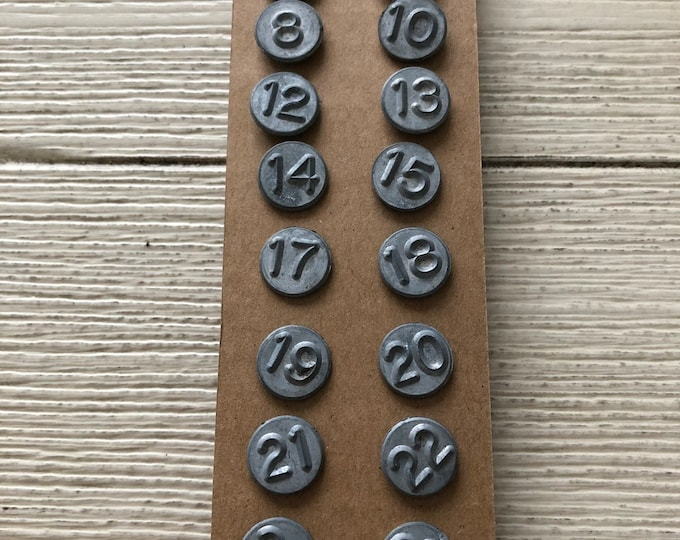 Numbered Tacks Vintage Numbering Nails