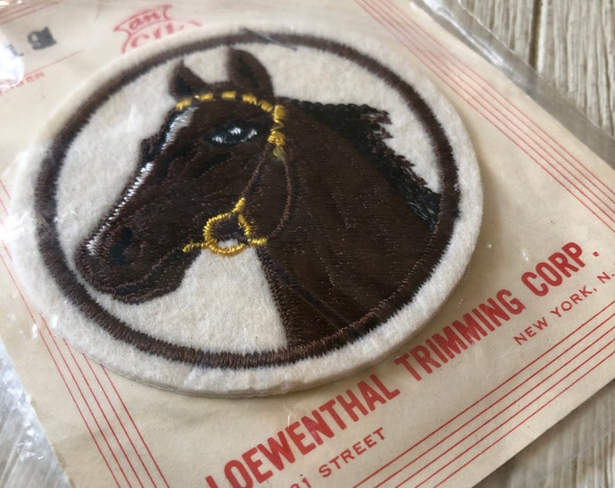 Horse Patch Appliqué Vintage Loewenthal Trimming Corp NOS