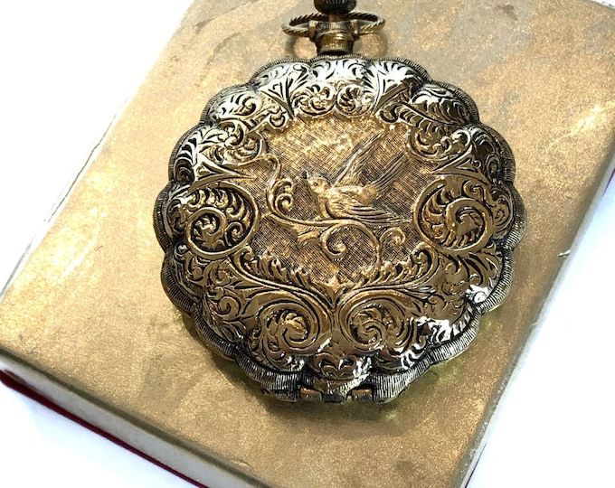 Max Factor Compact Pocket Watch Unised Powder Puff Original Box
