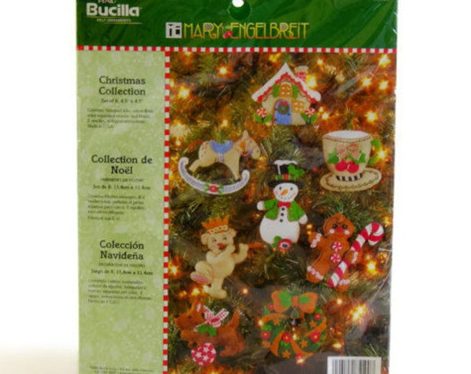 Bucilla Mary Engelbreit Christmas Ornaments Kit No. 85190 New Old Stock