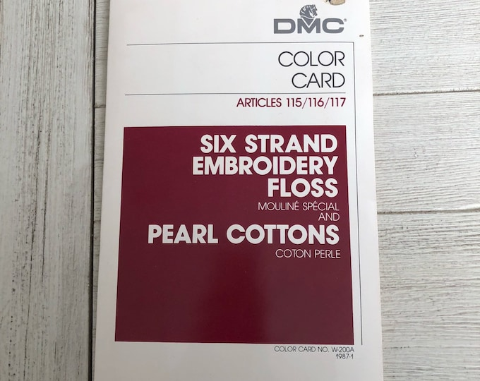 DMC Color Card Stitcher's Guide Embroidery Floss & Pearl Cottons