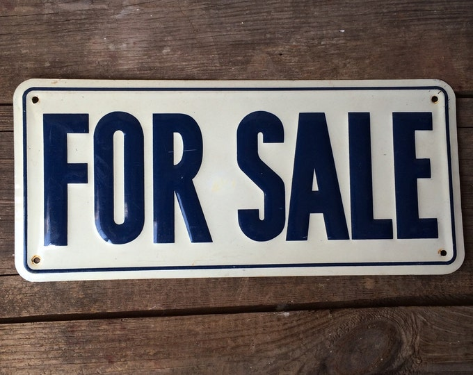 For Sale Sign Vintage Metal Industrial Wall Decor