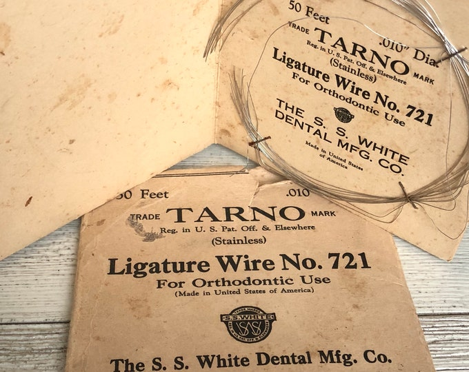 Ligature Wire Orthodontic Use Vintage Tarno Dental Collectible