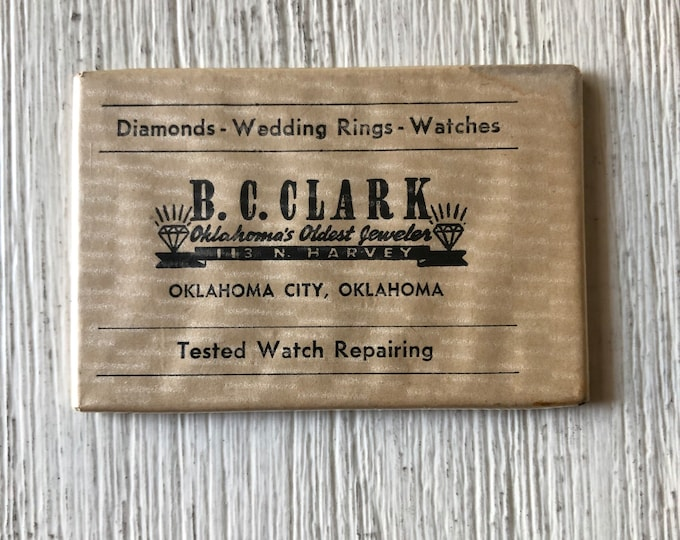 B. C. Clark Oklahoma's Oldest Jeweler Advertising Mirror