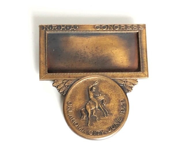 Horse Show Badge Name Tag NRHA Congress 1929 OKC