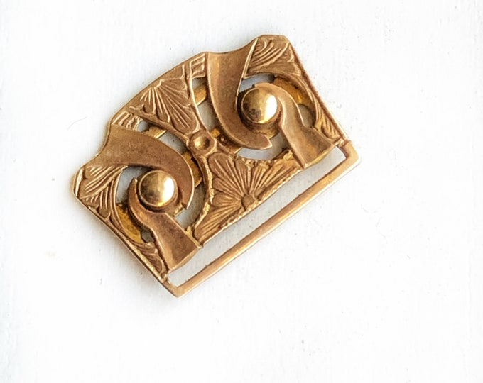 Vintage 14K Rose Gold Clasp Fine Jewelry Buckle for Antique Watch Band