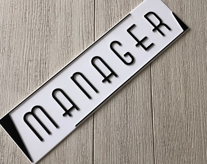Old Sign Manager Vintage Signage Art Deco Font