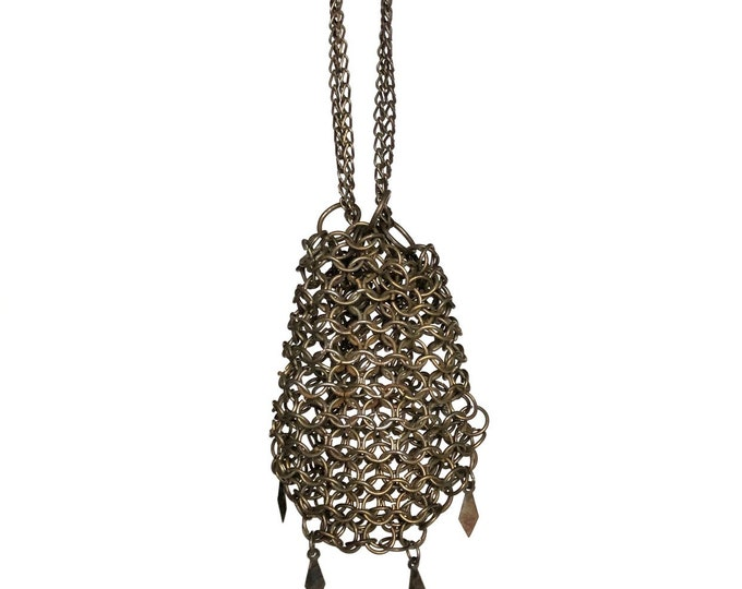Mesh Purse Tiny Chain Mail Drawstring Bag