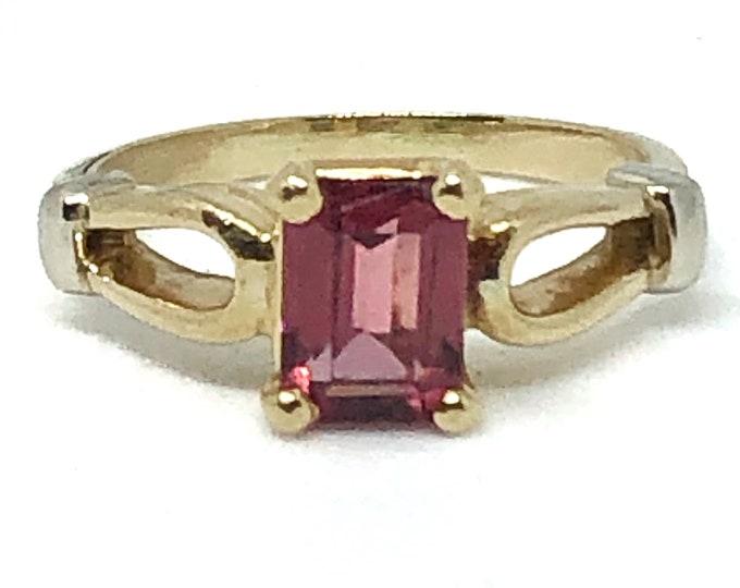 Vintage 14K Gold Garnet Ring Rhodolite Fine Jewelry Size 5 3/4