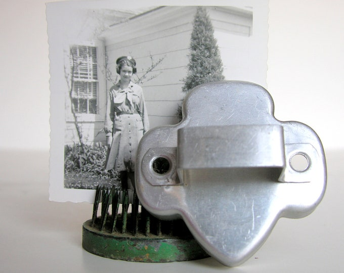 Vintage Girl Scout Cookie Cutter Silver Aluminum Kitchen Cooking Baking Christmas