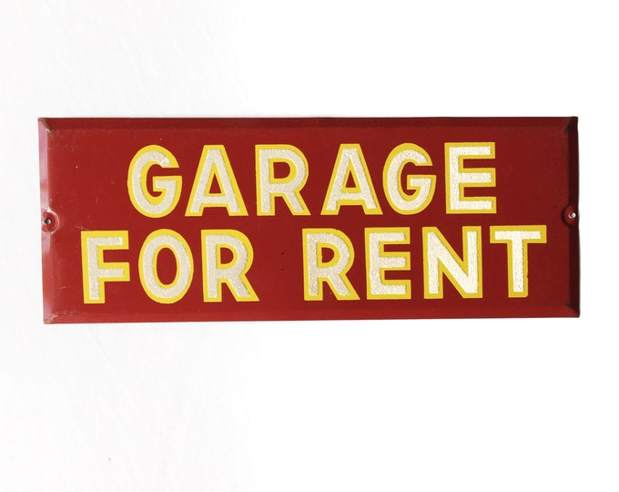 Vintage Garage For Rent Sign