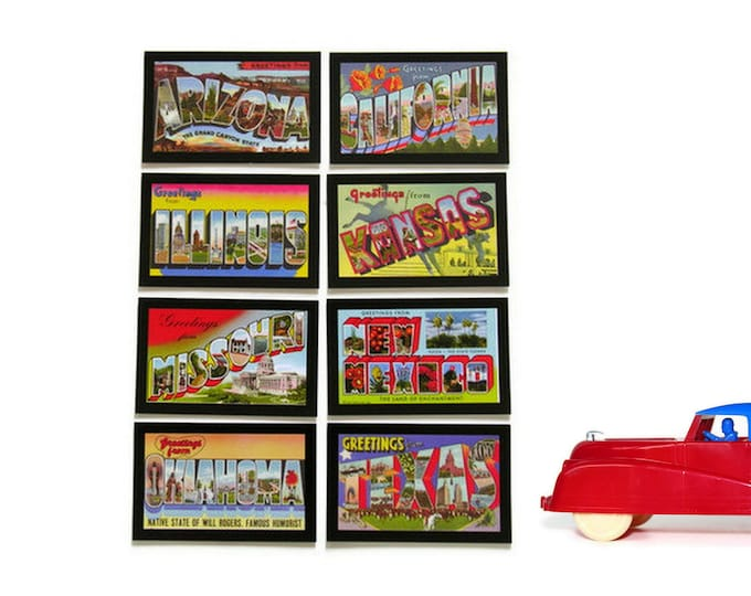 Route 66 Vintage Game Cards Lot Curt Teich Big Letter Postcard Look