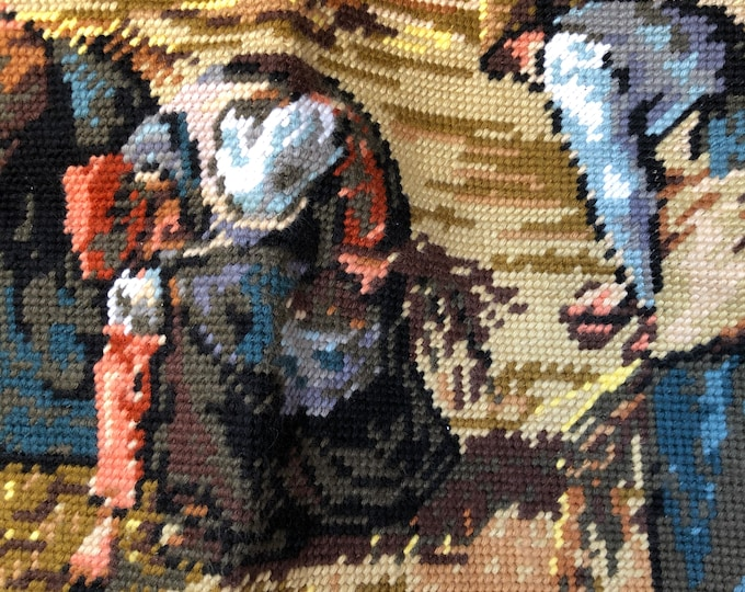The Gleaners Margot Creations de Paris Needlepoint Tapestry Vintage