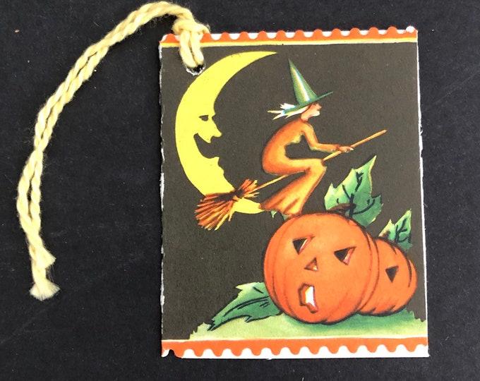 Halloween Witch Bridge Tally Moon JOL Vintage
