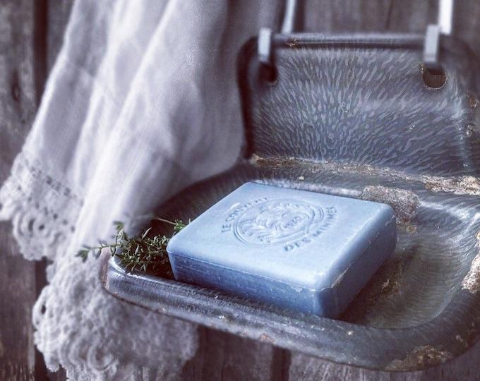 Enamel Soapdish Soap Holder Gray Enamel Antique Rustic Bathroom
