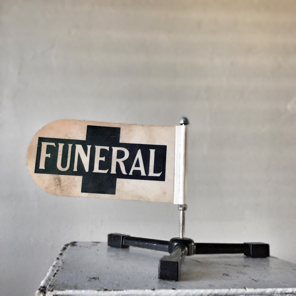 Funeral Flag Hearse Procession Magnetic Banner Postmortem