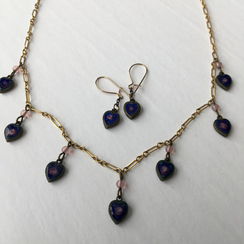 Lucy Isaacs NYC Necklace /& Earrings Vintage Charm Jewelry Set