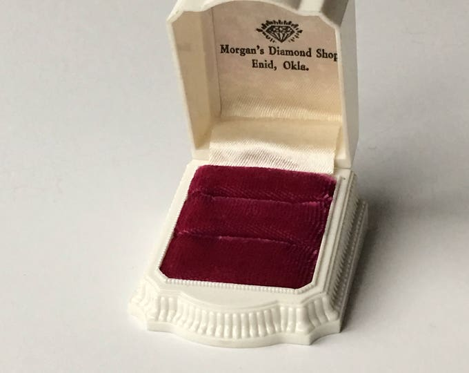 Ring Box Wedding Engagement Vintage Double Ringbox Jewelry Presentation