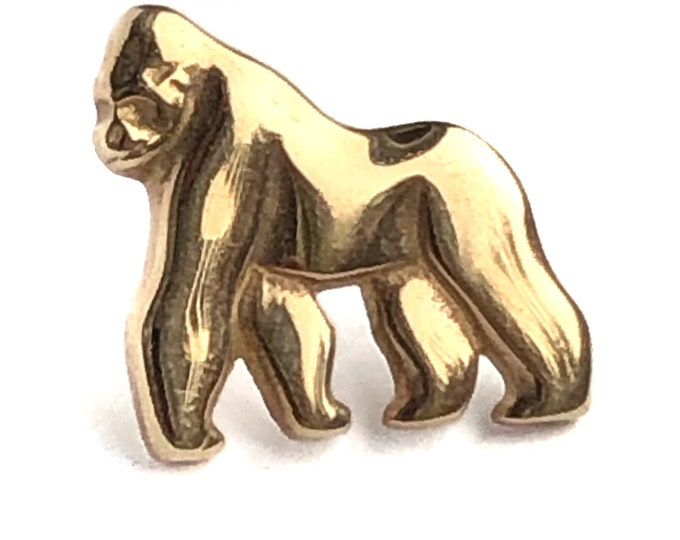 James Avery 14k Gold Gorilla Pin Retired Fine Jewelry