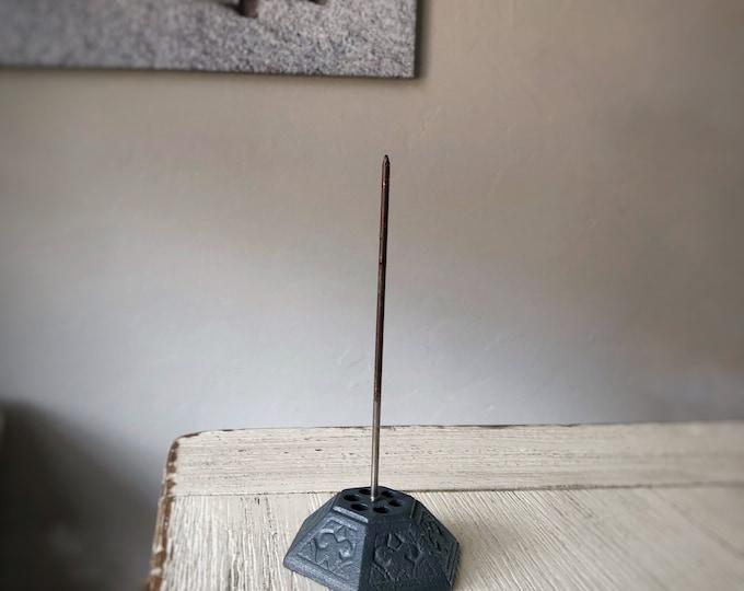 Blue/Gray Vintage Paper Spindle Paperwork Organization Office Desk Display Metal Spike