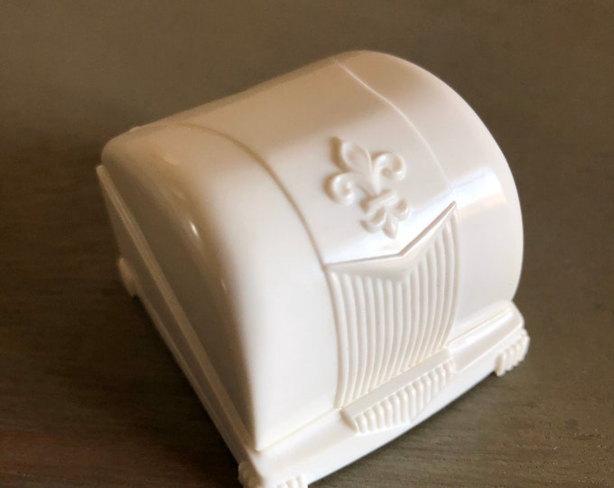 Engagement Vintage Ringbox Celluloid White Velvet Jewelry Presentation Wedding Ring Box