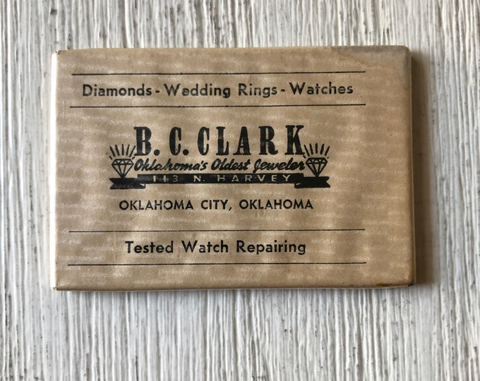 B. C. Clark Oklahoma's Oldest Jeweler Advertising Mirror