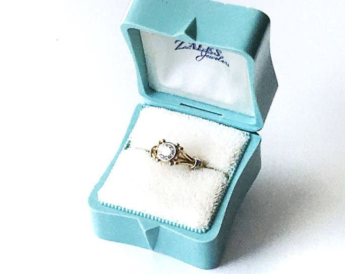 Ring Box Wedding Engagement Vintage Aqua Blue Ringbox Jewelry Presentation