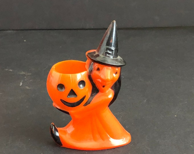 Halloween Witch Candy Container Vintage Rosbro Party Decoration