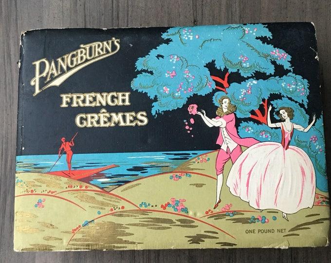Pangburn's French Cremes Vintage Candy Chocolate Box Art Deco