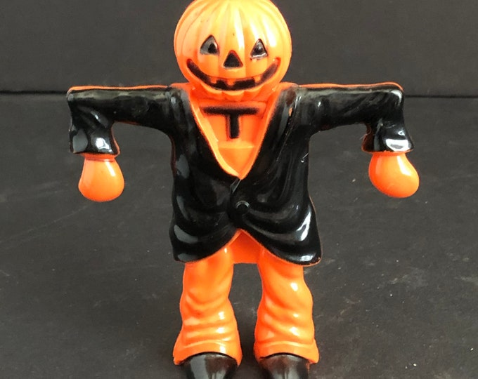 Halloween Candy Container Vintage JOL Head Scarecrow Party Decoration