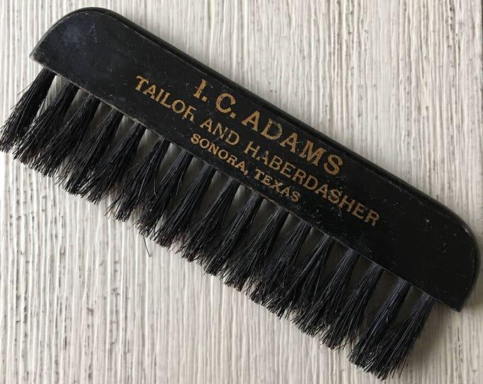 Antique Advertising Clothes Brush Adams Tailor Haberdasher Sonora TX