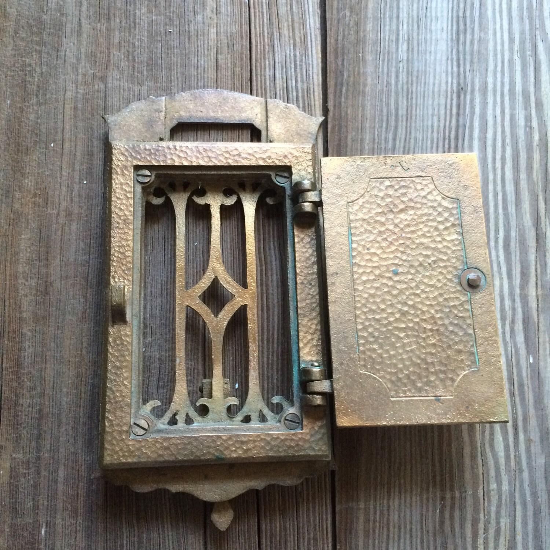 ... Speakeasy Viewer Antique Peephole Hardware. 1 & Vintage Brass Door Knocker Speakeasy Viewer Antique Peephole Hardware