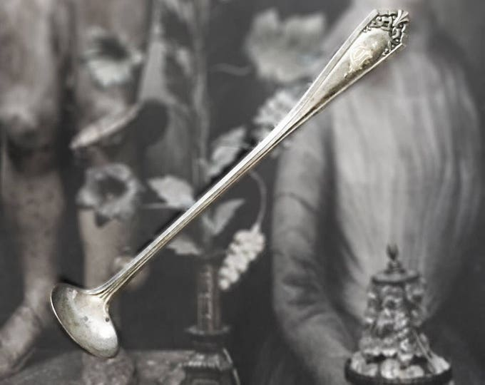 Sterling Silver Tiny Antique Ladle Spoon C Monogram Monogrammed
