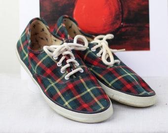 90s plaid shoes   Etsy