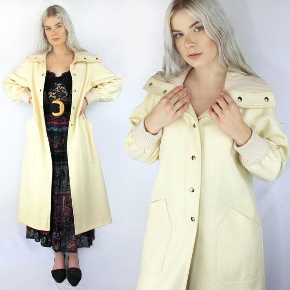 80s CREAM wool princess coat, DAENERYS COSTUME, cr