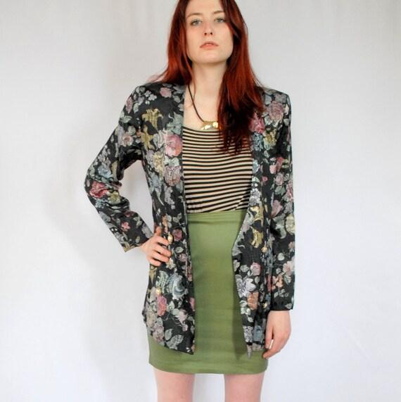 Original DST jacket  floral print  woman size 44  vintage