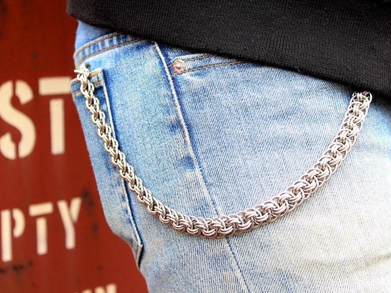 17a2c92900bd3 Geldbörsenkette Silber   Edelstahl Echo Wallet Chain