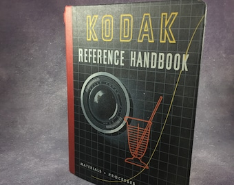 1952 Kodak Eeastman Co. Camera Lenses, films, Filters, Processing Formulas and Papers Reference Book