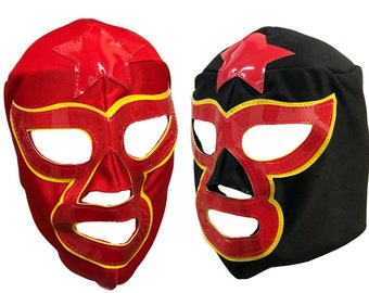 2pk STAR MAN Adult Lucha Libre Halloween Costume Masks (set of 2)  sc 1 st  Etsy & Lucha libre costume | Etsy