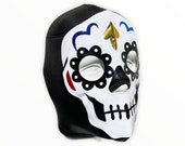 HALLOWEEN CATRINA Lucha Libre Wrestling Mask - (Adult Size) Brand New - Day of Dead Black