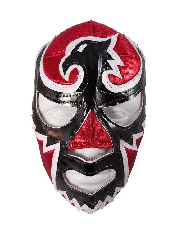 Black Hawk Lucha Libre Costume Wrestling Mask Adult Size Etsy