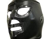 BLACK SHADOW Lucha Libre Wrestling Mask - (Adult Size) Brand New Black