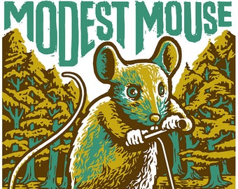 Modest Mouse poster by Shawn Wolfe
