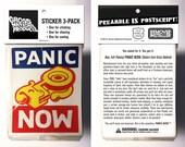 PANIC NOW ~ Jumbo Sticker...